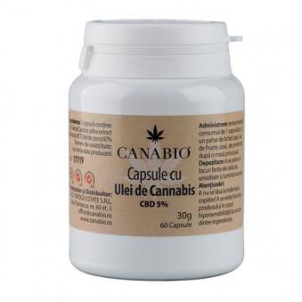 Capsule ulei CBD 5%, 30 g. 60 capsule